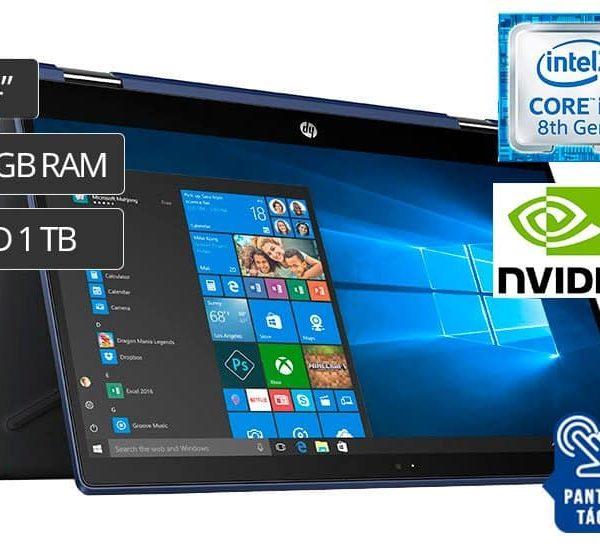 "LAPTOP HP 14-CD0012LA I7-8550U ( 3PY29LA ) 2 EN 1   14"" - I7 - 1TB - 8GB - MX130 4G - W10"