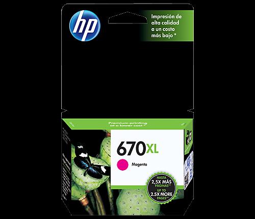 TINTA HP 670XL MAGENTA CZ119AL (750 PAG)
